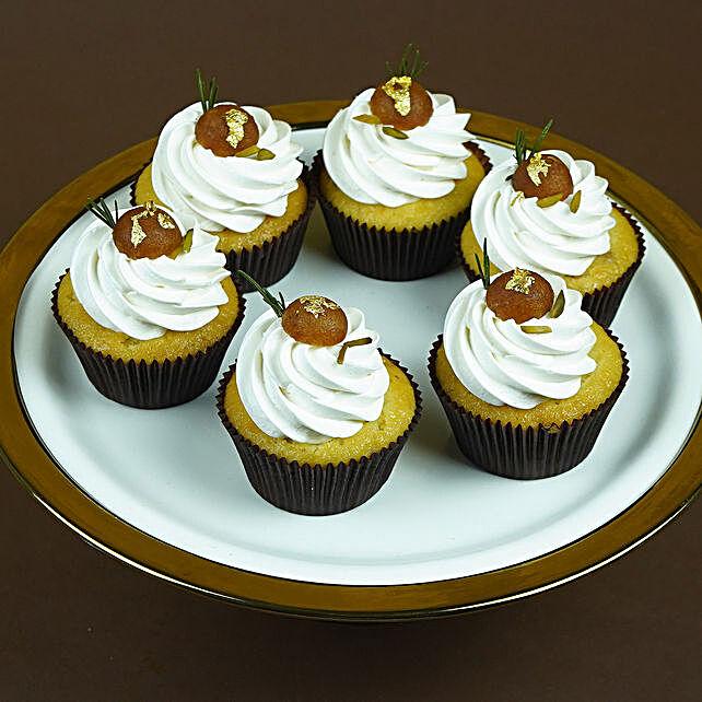Gulabjamun Cupcakes