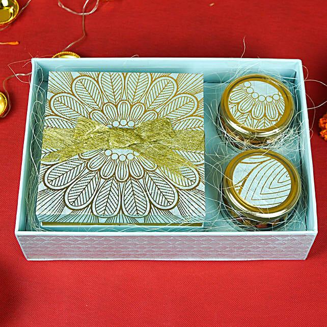 Sweets n Dry Fruits Diwali Wishes Box