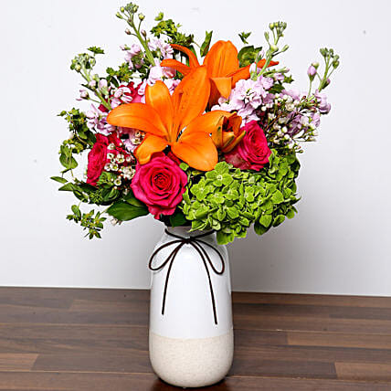 Vivid Mixed Flower Vase