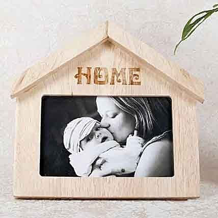 Wooden Home Shaped Frame