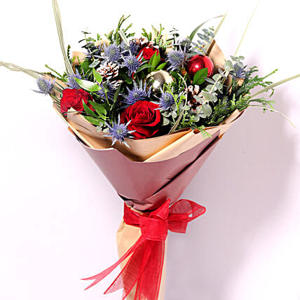 Xmas Decorations Flower Bouquet