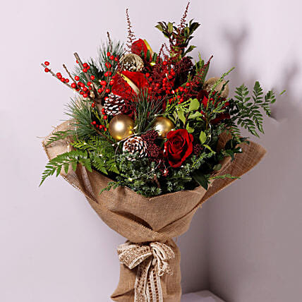 Xmas Surprise Flower Posy