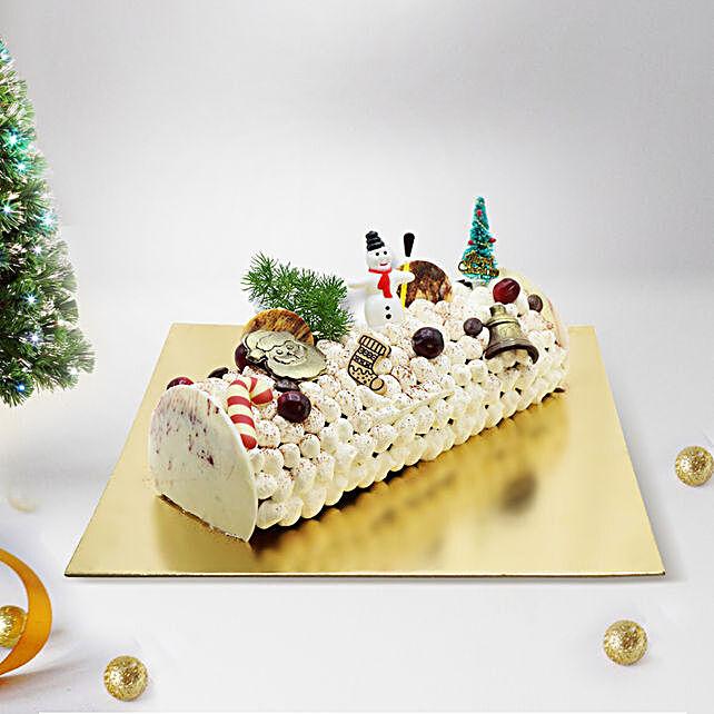 Yule Log Tiramisu Cake