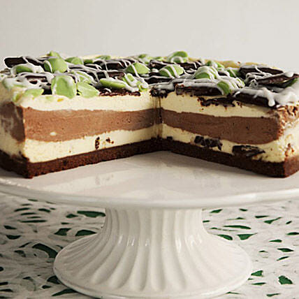 After Dinner Mint Cheesecake