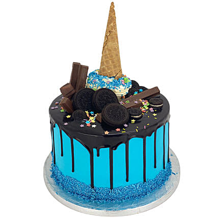Blue Oreo Ecstasy Cake Tower