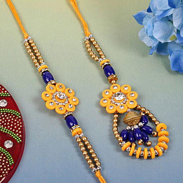 Blue Yellow Designer pair