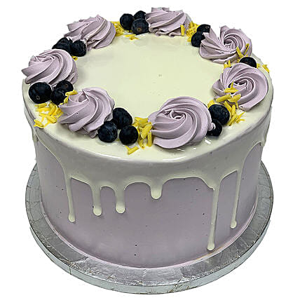 Blueberry Fantasy Tower Cake