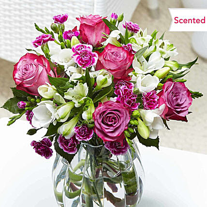 Charming Roses And Carnations Bouquet
