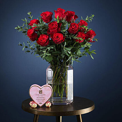 Classic Valentine Gift Set:Send Roses to UK