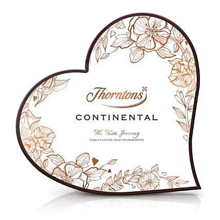 Continental Heart Chocolates Box:Send Valentines Day Gifts to UK