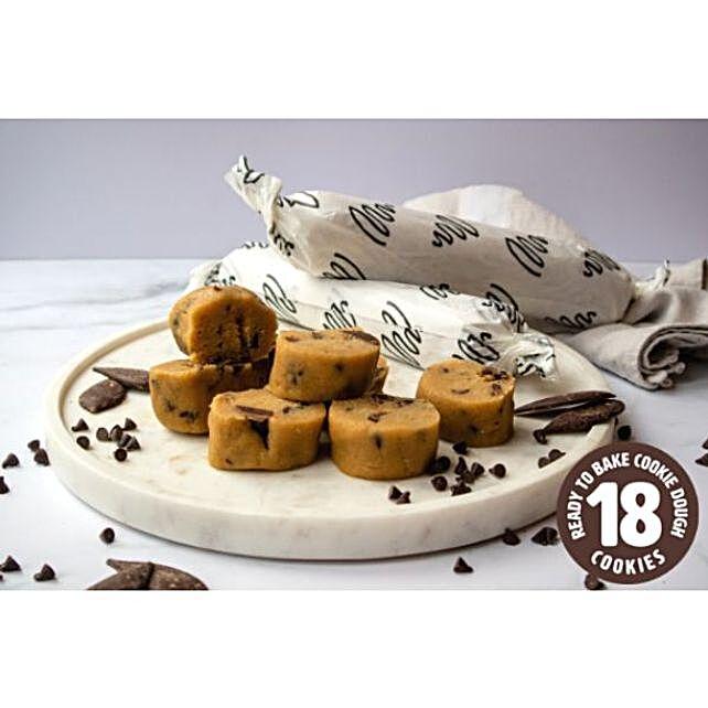 Dark Chocolate Chip Cookie Dough Rolls
