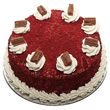 Delicious Chocolate Flakes Topped Red Velvet Cake