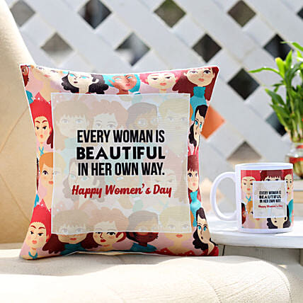 Women's Day Wishes Cushion Online