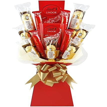 Ferrero And Lindt Chocolate Bouquet
