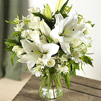 Fragrant Lilies And Roses Bouquet