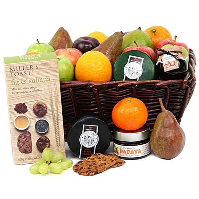Fruit N Cheese Basket