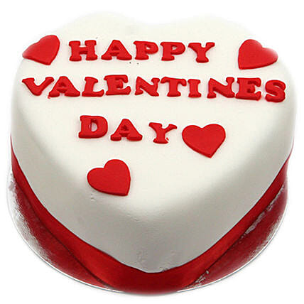 Happy Valentines Day Heart Cake