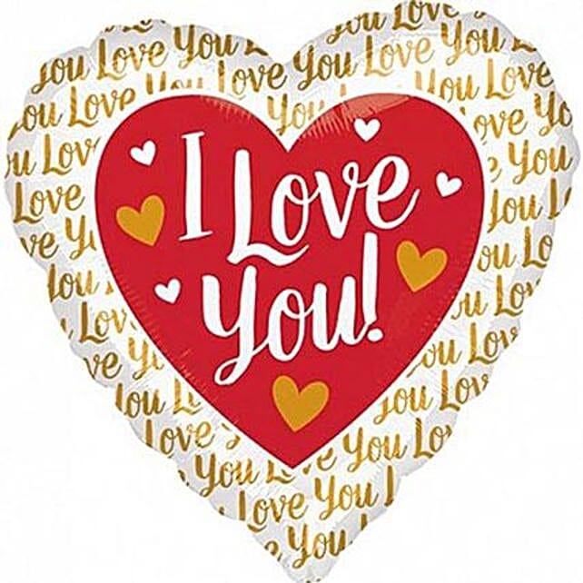 Heartshaped I Love You Balloon