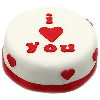 I Heart You Pretty Cake:Send Valentines Day Cakes to UK