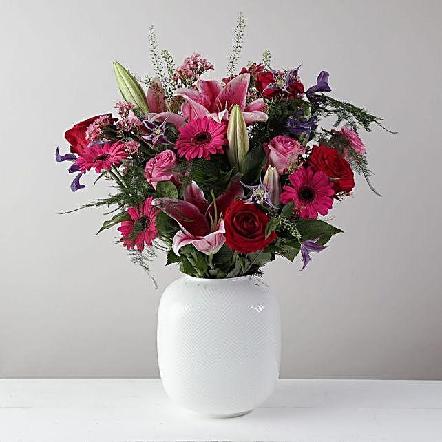 Lilies N Roses Arrangement