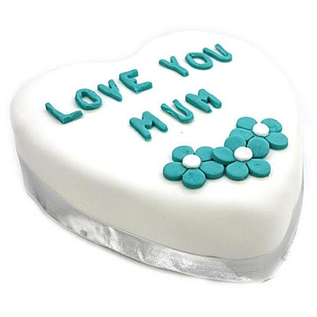 Love You Mum Vanilla Cake
