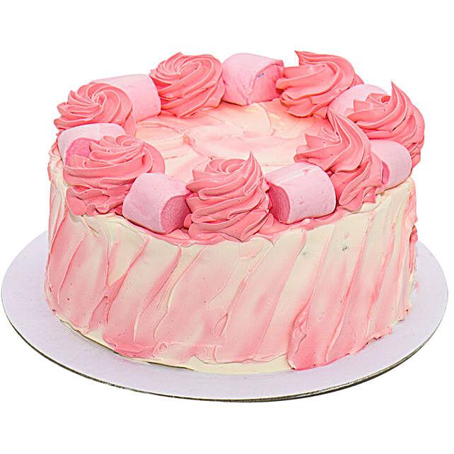 Marshmallow Magic Vanilla Cake:Cake Delivery UK