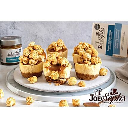 Mini Vanilla Cheesecakes With Joe And Sephs Popcorn:Order  Cakes to UK