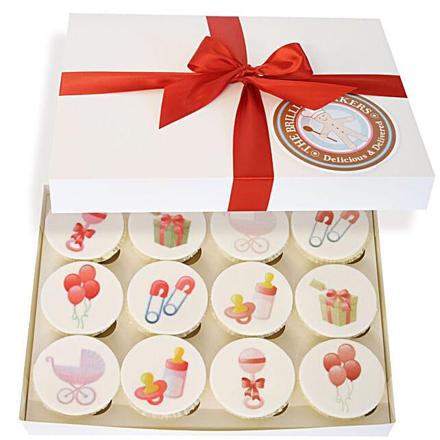 New Born Baby Girl Cupcake Set