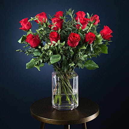 Perfect Love Roses Arrangement:Send Valentines Day Gifts to UK