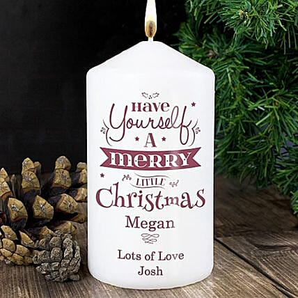 Personalised Christmas Eve Candle