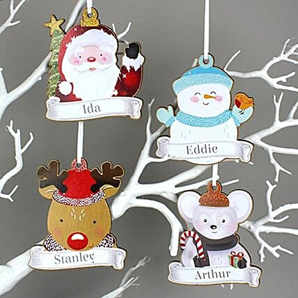 Personalised Christmas Frame Decorations