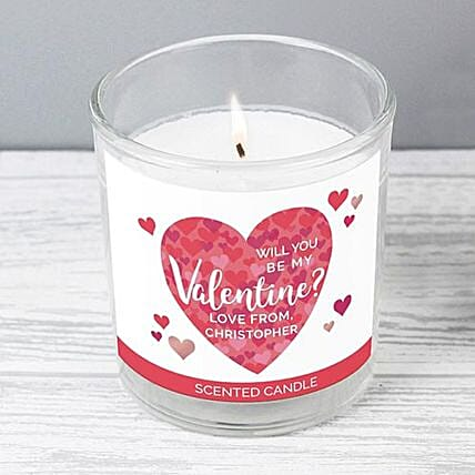 Personalised Confetti Hearts Scented Jar Candle:New Arrival Gifts UK