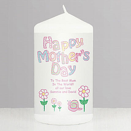 Personalised Happy Mothers Day Candle