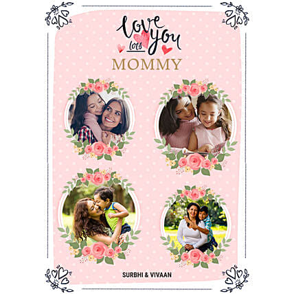 Personalised Love You Mom Digital Collage:Send Mother's Day Gift to UK