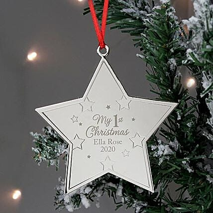 Personalised My First Xmas Star