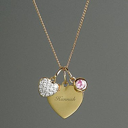 Personalised Sterling Silver And Gold Heart Necklace