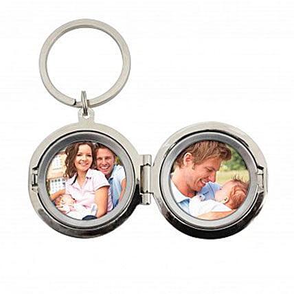 Personalized Dad No.1 Photo Keyring:Send Accessories Gifts to UK