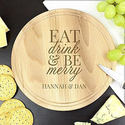 Personalized Merry Chopping Board