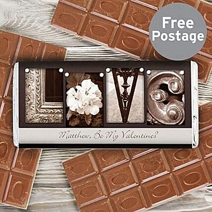 Personalized Milk Chocolate For Art Lovers:Send Anniversary Chocolate Basket to UK