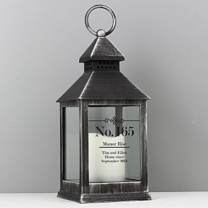 Personalized Rustic Black Lantern:Send Birthday Personalised Gifts to UK