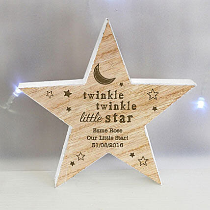 Personalized Wooden Star Decoration