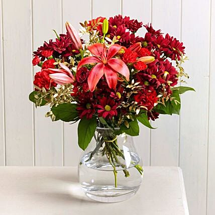 Red Mistletoe Floral Bouquet