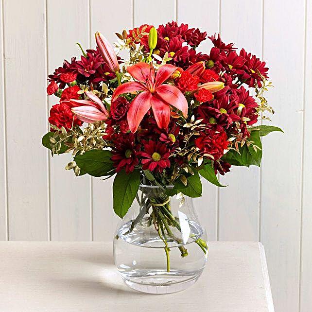 Red Mistletoe Floral Bouquet