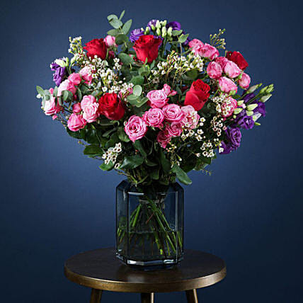 Romance In Air Flower Arrangement:Roses