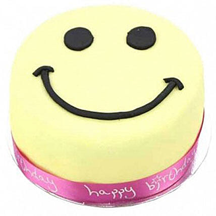 Smiley Celebration Cake For Girl