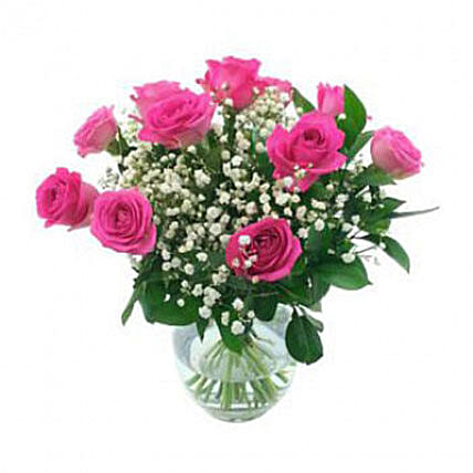 Stunning Bouquet Of Pink Roses