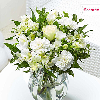 Stunning Roses And Carnations Bunch
