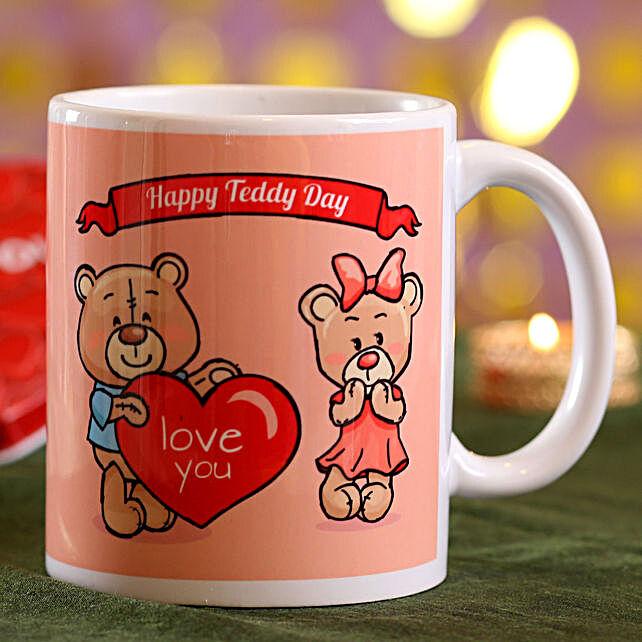 teddy day printed mug for her
