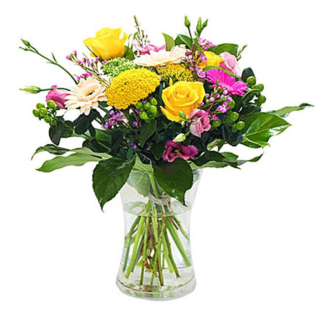 The Happy Vase:Send Birthday Lilies to UK
