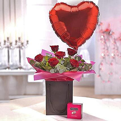 Be Mine Chocolate and Balloon Gift Set